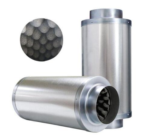 "Metal Ducting Silencer 6/"" Ventilation Extraction Indoor Growing Low Noise"