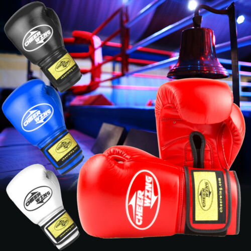 Pro Style Training Gloves Boxing Gloves for Kickboxing Muay Thai Sparring 12oz