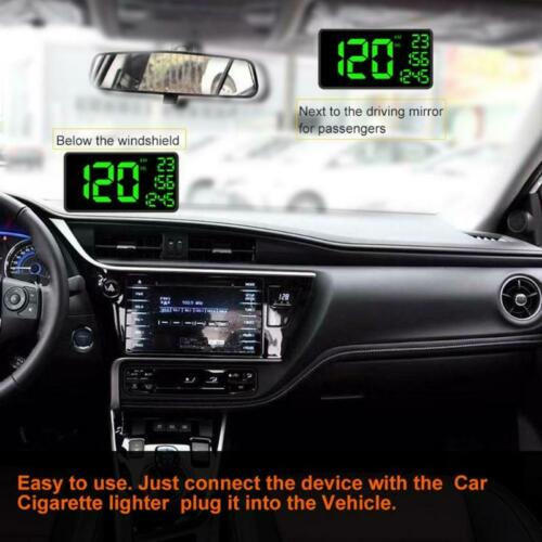 Full Screen 6.2/'/' Car HUD Head Up Display Over Speed Warning GPS Speedometer