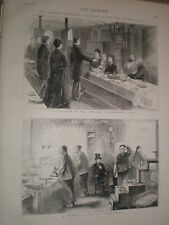 A Chinese laundry in Philadelphia 1876 print ref V