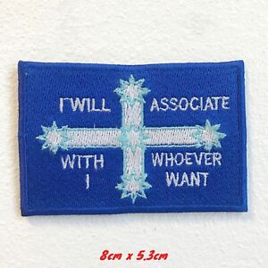I-Volonte-Associe-avec-Whoever-I-Want-Drapeau-Brode-a-Repasser-Patch-a-Coudre