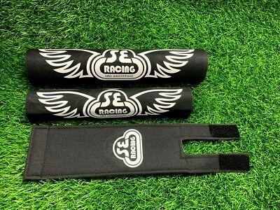 PK RIPPER Pad Set frame handlebars bar Stem bmx Re Made Black white