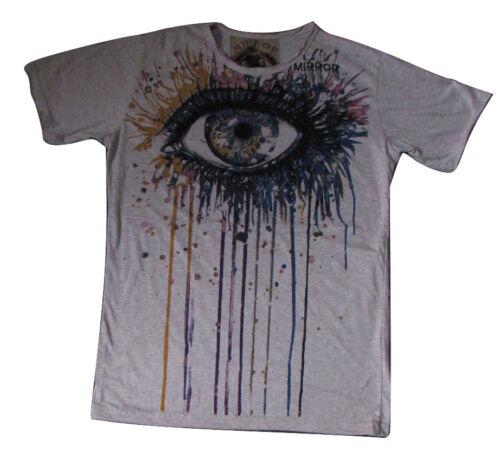 Homme miroir T Shirt Shiva hindou Boho Coloré Eye Trippy Hippie RARE coton L