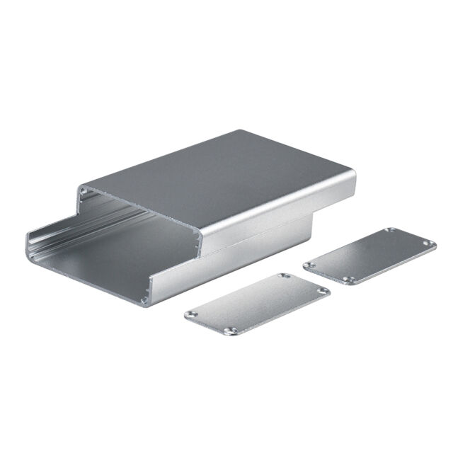 2x Silver Aluminum Project electronic Box Enclosure Case for PCB DIY 80*50*20mm