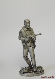Tin soldier, figure. Tank of the red army, 1942. 54 mm
