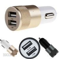 2.1A/24W Car Charger Adaptor Bullet Dual USB 2 Port for iPod iPhone 6 5 4 C S