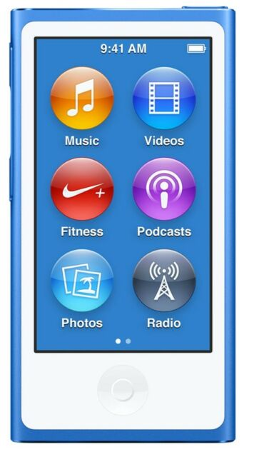 Apple Blue A1446 16gb 7th Generation Bluetooth iPod Nano