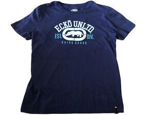 Ecko-Unltd-T-Shirt-Men-039-s-Size-L-Rhino-Logo-Graphic-Tee-Red-Urban-Streetwear-P232