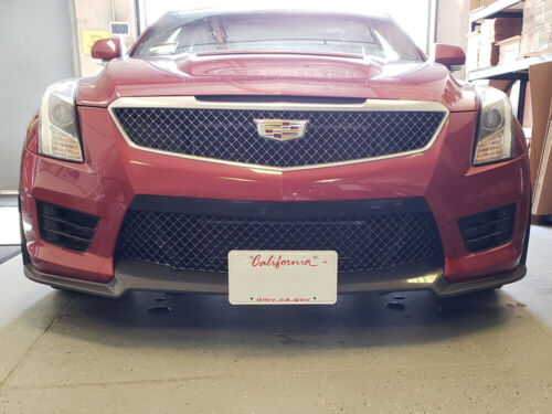 Removable Front License Plate Bracket 2016-2019 Cadillac ATS V Carbon Spoiler