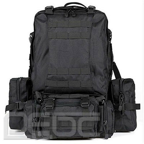 MILITARY Style LARGE MOLLE 3 DAY ASSAULT TACTICAL BACKPACK RUCKSACK Black