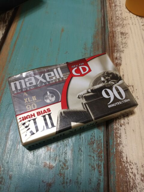 Maxell XLII 90 Minutes High Bias Blank Cassette Tape   Ideal For CD