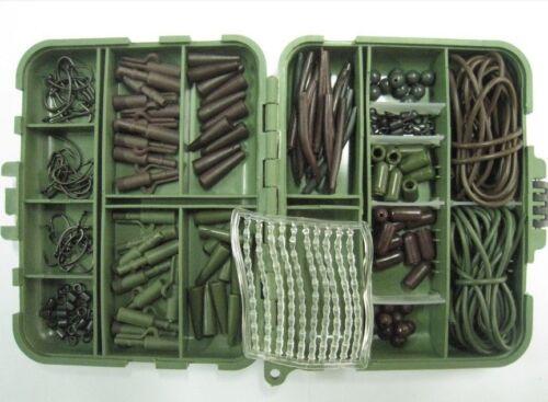 Large Carp Rig Accessory Kit Tackle Box Téflon Hooks choose Size Hair ossatures