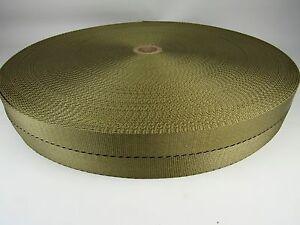 "Desert Tan 1 3//4/"" In Military Spec Webbing 100/' Ft Roll Fabric Outdoor Camo #291"
