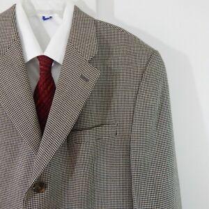 RALPH-LAUREN-jacket-blazer-sport-coat-wool-silk-houndstooth-3-button-regular-42R