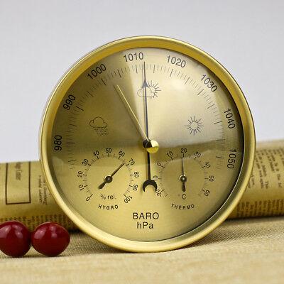 Außenthermometer Shabby Gartenthermometer analog Metallthermometer Wetterstation