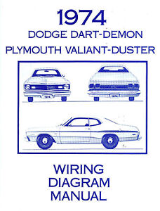 1974 74 plymouth duster dart wiring diagram image is loading 1974 74 plymouth duster dart wiring diagram