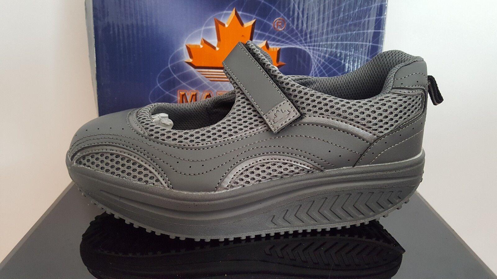 Mapleaf Ladies Shape-Up Toning Sandal Sports Fashion shoes -  Grey Size 36