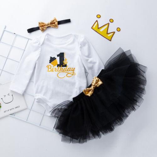 robe tutu tenue ensemble vêtements 2018 bébé nouveau-né Bébé Fille 1st Anniversaire Ange