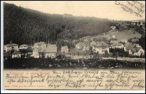 KIPSDORF-Erzgebirge-Sachsen-Partie-mit-Wohnhaeuser-1904-nach-Klosterlausnitz-gel