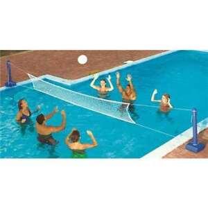 Swimline-9186-Cross-In-ground-Swimming-Pool-Fun-Volleyball-Net-Game-Water-Set
