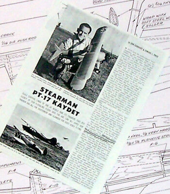 """Pt-17 Plans + Construction Article & Scale Data For Exact Scale 45"""" Uc Model"""