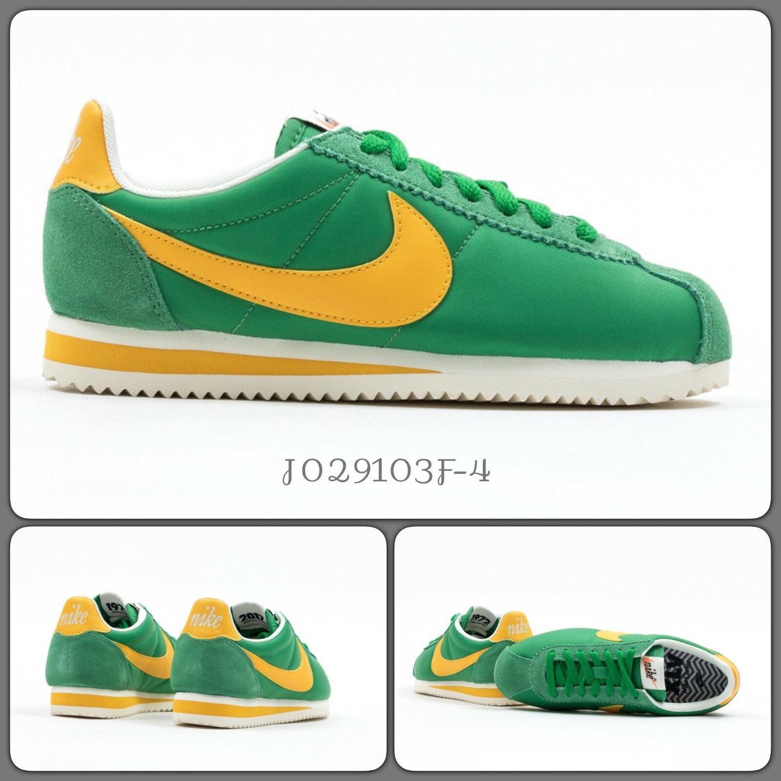 Nike Cortez Classic Nylon OG, Oregon, 882258-101, UK 4.5, EU 38, US 7