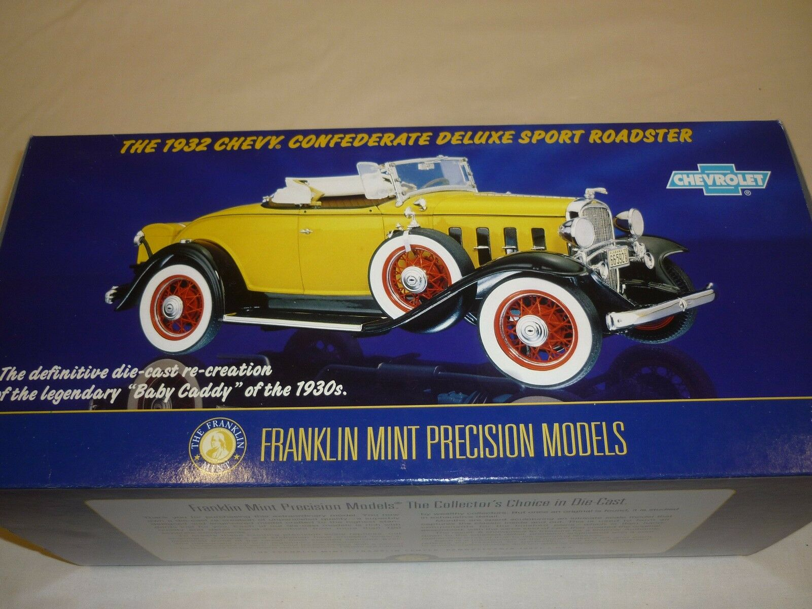 Franklin mint 1932 Chevrolet confederate deluxe Sport roadster, boxed