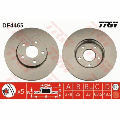 Bremsscheibe 1 Stück TRW DF4465