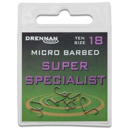 Drennan Eyed Specimen Super Specialist Hooks
