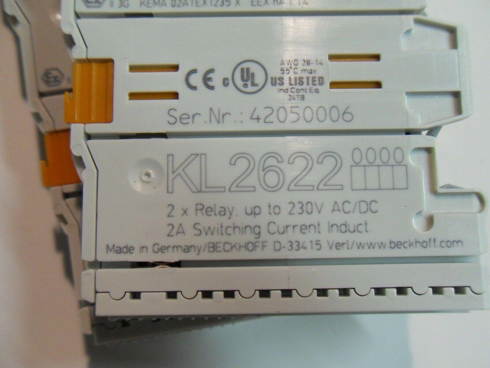 BECKHOFF KL2622 2 X RELAY