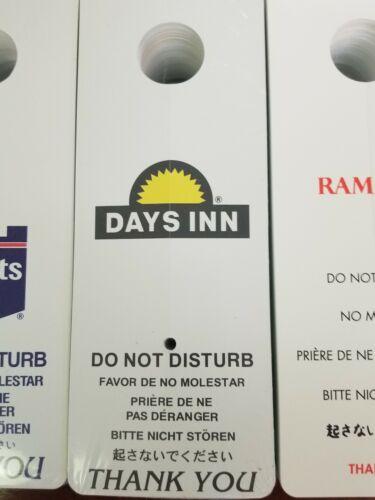 """100 PER BOX SUPER 8 MOTEL DO NOT DISTURB SIGNS 8/"""" x 3/"""" GUESTROOM DOOR KNOB"""
