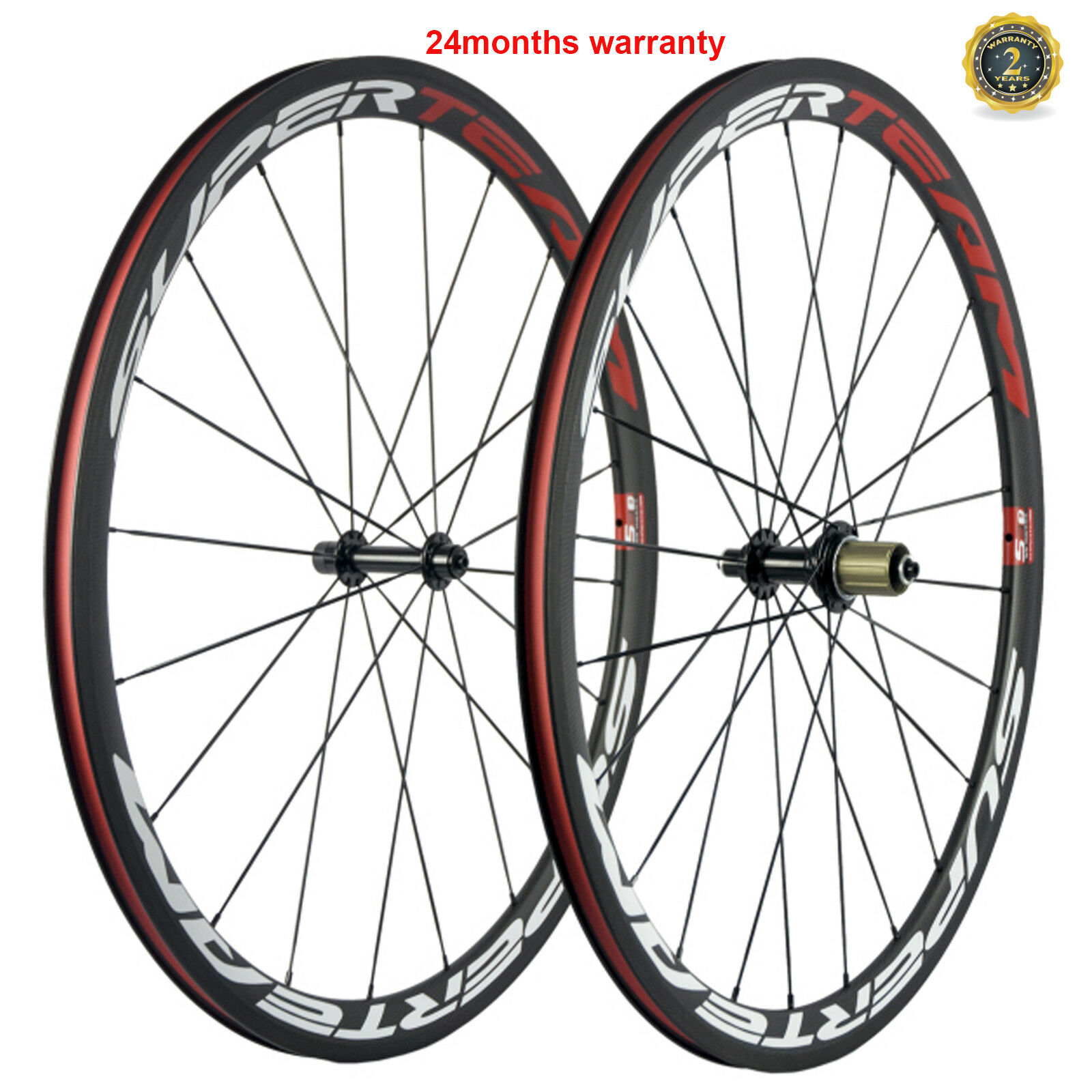 Carbon  Wheels 38mm Depth Carbon Wheelset 23mm Width Clincher Cycle 700C Bicycle  best reputation