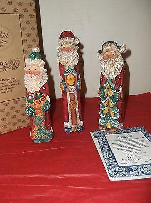 G Debrekht HOLIDAY MOMENTS 3 Old World Santas 51651 Limited  Edition New NIB
