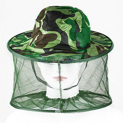Hot Mosquito Bug Bee Insect Resistance Net Mesh Cap Face Head Protector Hat B75U