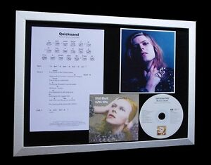 DAVID-BOWIE-Quicksand-LTD-TOP-QUALITY-MUSIC-CD-FRAMED-DISPLAY-FAST-GLOBAL-SHIP
