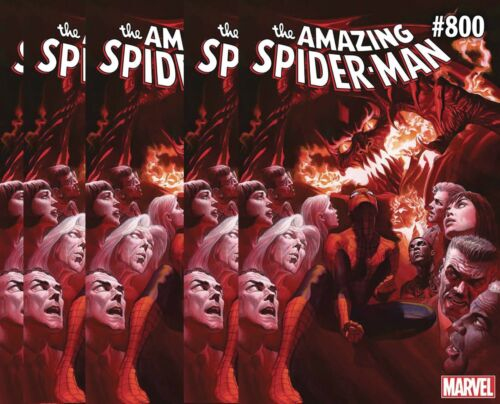 FREE SHIPPING! 5 copies AMAZING SPIDERMAN #800 Regular Cover 2018