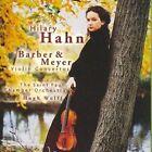 Barber & Meyer Violin Concertos CD