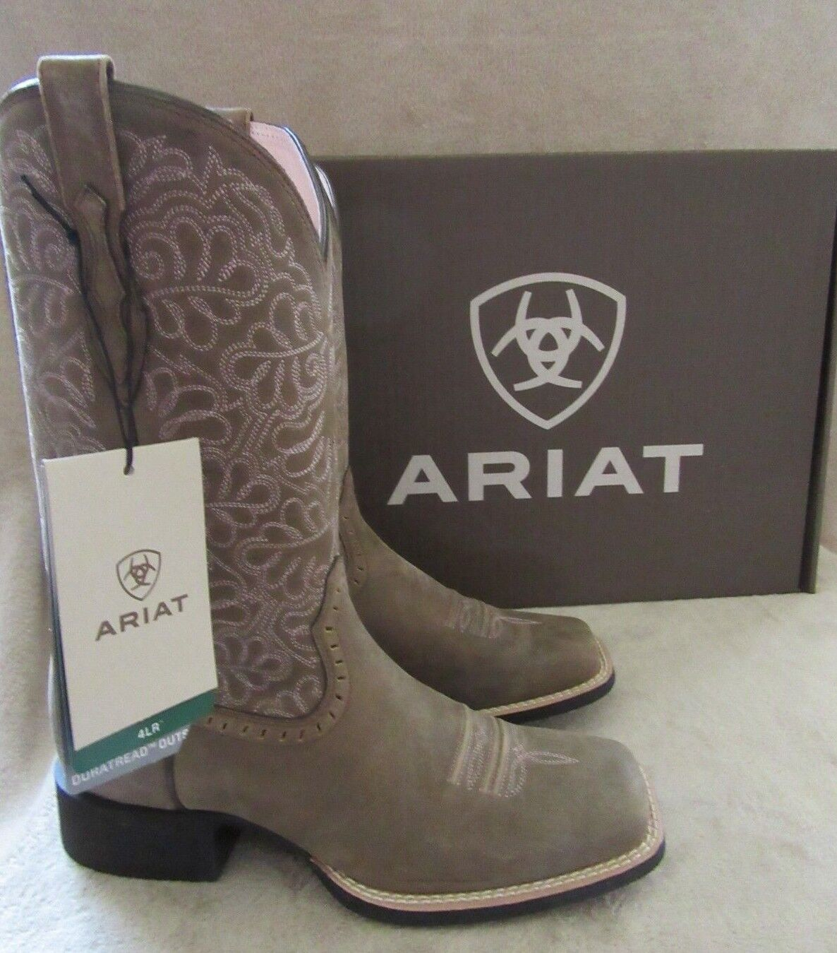 ARIAT 10019906 Round Up Remuda Brown Bomber Boots shoes US 7.5 M EUR 38 NWB