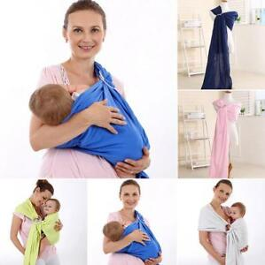 61672995493 Image is loading Adjustable-Newborn-Baby-Toddler-Carrier-Ring-Sling-Wrap-