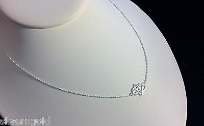 Hamsa Necklace-Solid Sterling Silver 925-Sideways Set-Kaballah-Hand-Protection