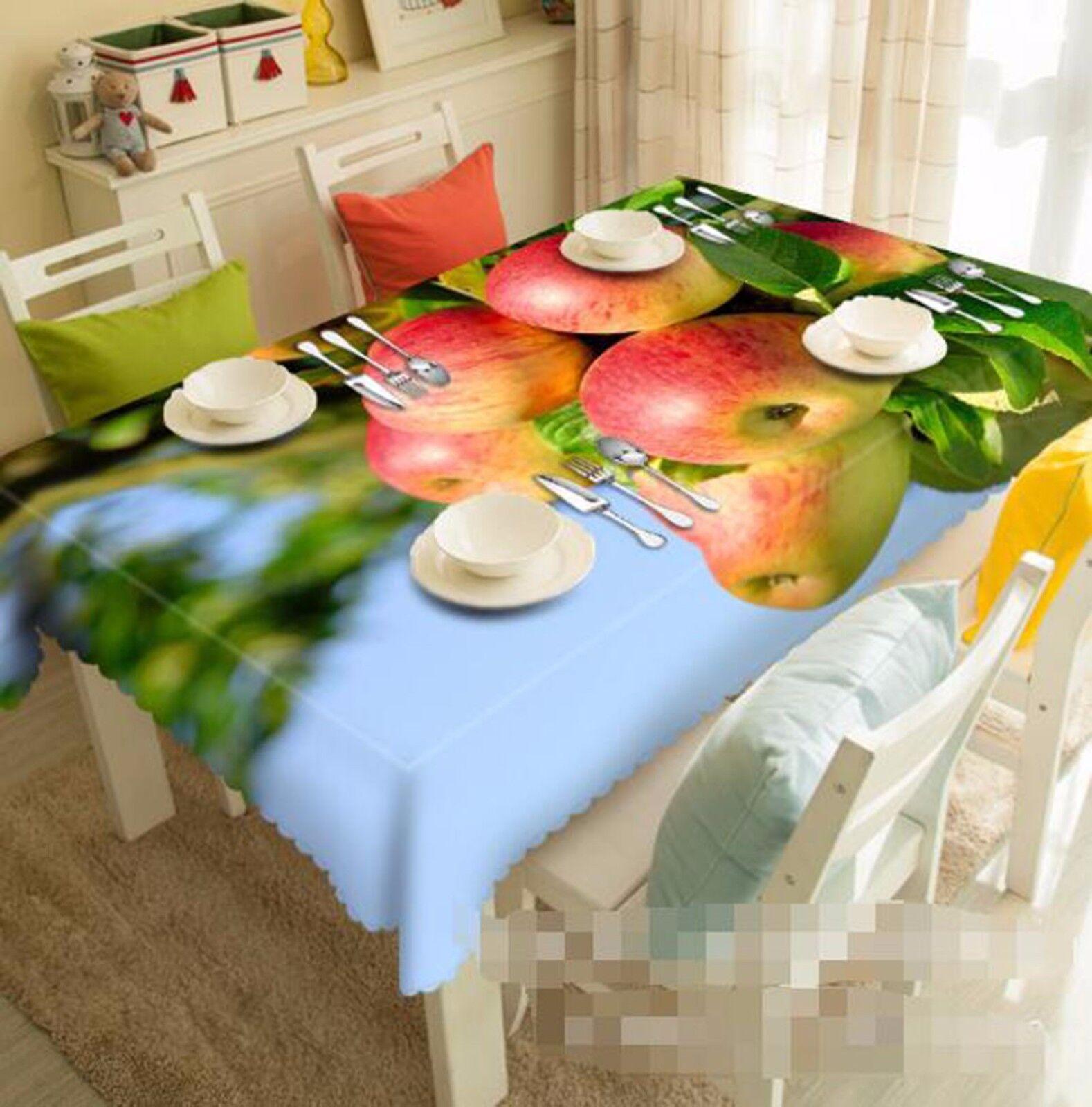 3D Apple Tree Nappe Table Cover Cloth fête d'anniversaire AJ papier peint Royaume-Uni Citron