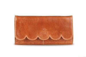 Ladies-Womens-Genuine-Leather-Clutch-Wallet-Purse-Card-Cash-Holder-Tan