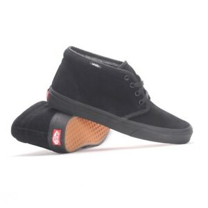 21e294991cab73 Vans Chukka Black Black Suede Hi Top New In Box Fast Shipping