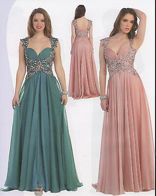 3 Colors Mother Of Bride/ Groom Lovely Elegant Evening and Cocktail Dress 4-20