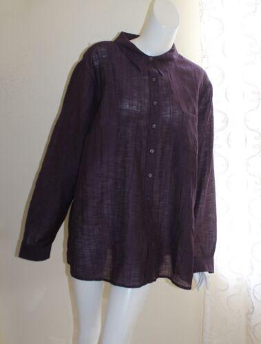Coldwater Creek -Sz 3X Purple Crinkled Art-to-Wear