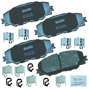 Disc Brake Pad Set-Premium Copper Free Ceramic BPR Disc Brake Pad Front Bendix