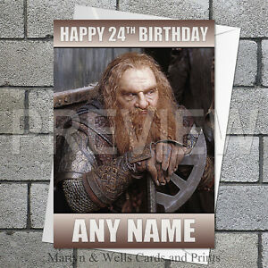 All Occasions Birthday LORD OF THE RINGS GOLLUM Personalised Handmade Open Card