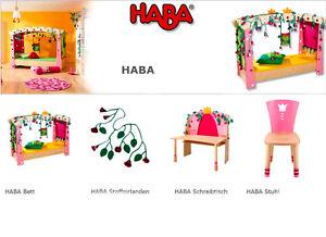 Haba kinderzimmer schneewittchen bett stuhl schreibtisch for Haba kinderzimmer