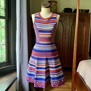 JEALOUS TOMATO Boho Rayon Dress Fit Flare MEDIUM