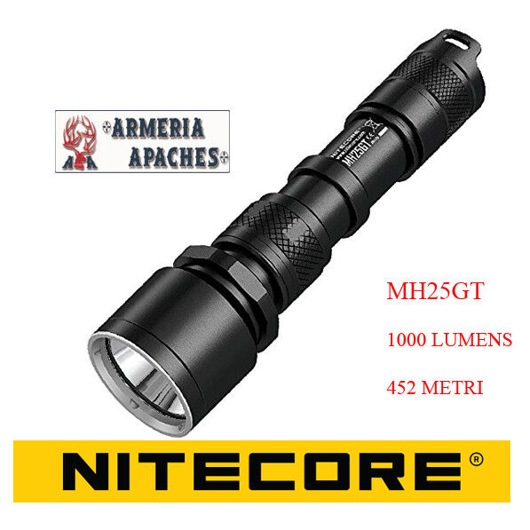 Nitecore MH25GT Torch rechargeable Professional 1000 lumens 452 m